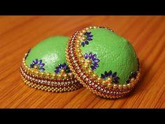 Diy Wedding Ring, Desi Wedding Decor, Wedding Crafts, Bridal Decorations, Festival Decorations, Handmade Decorations, Kalash Decoration, Coconut Decoration, Coconut Shell Crafts