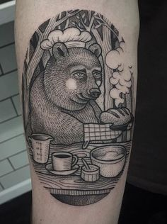 Susanne Konig bear tattoo