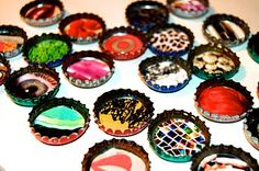 Bottle Cap Magnets   www.jaderbomb.com