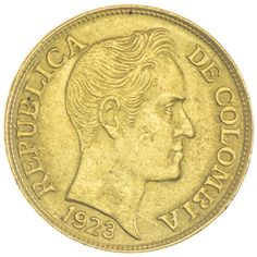 5 Pesos 1923 Kolumbien