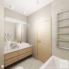 Colour scheme, light wood with grey wall tiles Narrow Bathroom, Bathroom Spa, Bathroom Toilets, Laundry In Bathroom, Grey Bathrooms, Bathroom Layout, White Bathroom, Bathroom Interior, Contemporary Bathrooms