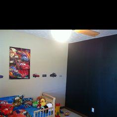 Chalkboard wall in kids room