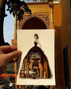 dessins-de-mode-avec-le-paysage-en-motif-par-Jordan-Shamekh-Al-BLUWI-11 Des dessins de mode avec le paysage en motif