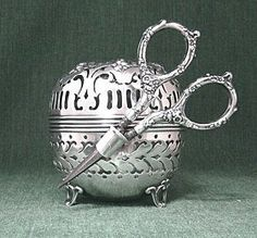Gorham sterling ball thread holder ~♥~