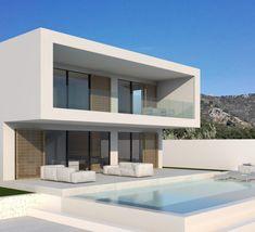 Design – Page 2 – Modern Villas Modern Exterior House Designs, Modern Villa Design, Modern Architecture House, Architecture Design, House Outside Design, House Front Design, Small House Design, Architect Design House, Small Villa