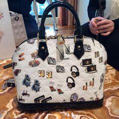 Louis Vuitton Monogram Vernis Stickers Animation Alma PM Bag