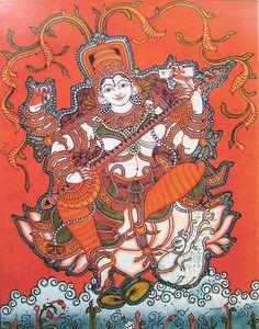 Saraswati - Goddess of Knowledge and Music (Reprint on Paper - Unframed)