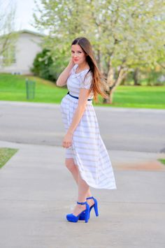 maternity (or nonmaternity) tapered dress tutorial