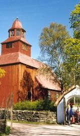 The Skansen Museum in Stockholm: Church at Skansen Museum, Stockholm