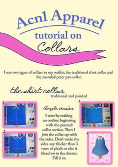 animal crossing tutorial collar QR code new leaf acnl able sisters ACNL blogging acnl fashion