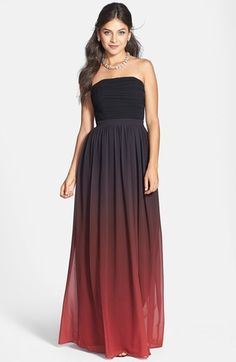Erin Fetherston ERIN 'Isabelle' Ruched Ombré Chiffon Gown on shopstyle.com