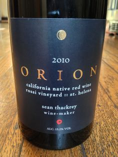 Newest Wine Review For You!: Sean Thackrey Orion 2010 California Naive Wine Rossi Vineyard St Helena http://vinopete.com/sean-thackrey-orion-2010-california-naive-wine-rossi-vineyard-st-helena/