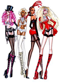picture, illustration, color, girls, mulan rouge, lady marmalade, sexy