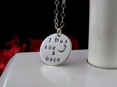 Sterling Silver Hand Stamped Mom Grandmother by auctionprincess, $45.00