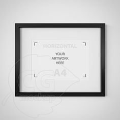 A4 frame Digital product mockup Matted black frame by CGmockup