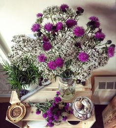 Beautiful freshly picked wild flower bouquet. Spanish buttons & great valerian. Home decor. Love Flowers, Dried Flowers, Flower Frame, Flower Art, Picking Wild Flowers, Handmade Items, Handmade Gifts, Picture Frames, Spanish