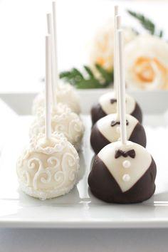 Cake-pops de chocolate para bodas