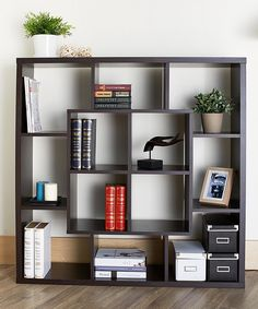 Look at this Furniture of America Espresso Kuvello Open Bookshelf on #zulily today!