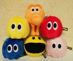 1pcs 2017 New Movie Pixels Pacman Q-Bert Plush Toys Doll Kawaii Pixels Qbert & Pac-man & Ghost Plush Soft Stuffed Toys Gifts #Affiliate