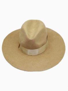 a05d8a5d7de Shop Camel Oversized Felt Fedora Hat from choies.com .Free shipping  Worldwide.