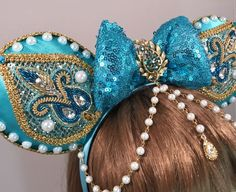 Hair Accessories, Fascinators, and Inspired Mouse Ears by Mickey Mouse Ears Headband, Disney Mickey Ears, Disney Bows, Disney Diy, Disney Crafts, Cute Disney, Disney Outfits, Disney Fashion, Disney Style