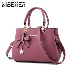 2900c8ddf2af NIBESSER 2018 Elegant Shoulder Bag Women Designer Luxury Handbags Women Bags  Plum Bow Sweet Messenger Crossbody Bag for Women NIBESSER 2018 Elegant  Shoulder ...
