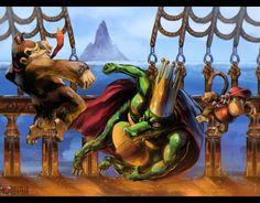 Donkey Kong Country, Courtney Chitsiga Super Nintendo, Super Smash Bros, Super Mario Bros, Video Game Art, Video Games, K Rool, Marvel Cartoon Movies, Retro, Diddy Kong