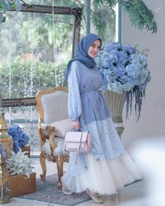 Hijab Evening Dress, Hijab Dress Party, Muslim Fashion, Hijab Fashion, Beautiful Hijab, Beautiful Dresses, Casual Hijab Outfit, Hijab Chic, White Tutu Skirt