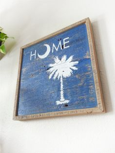 SOUTH CAROLINA SIGN on Barn wood. // yeahTHATgreenville Southern Pride, Southern Charm, Southern Style, Southern Living, Charleston Sc, Charleston South Carolina, Dyi, Palmetto Tree, Missing Home