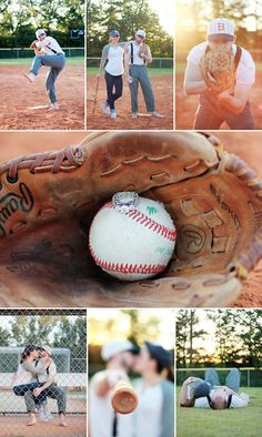 BASEBALL ENGAGEMENT...I AM THINKING SAVE THE DATES AND ENGAGEMENT PHOTO. HOME RUN!! LOL