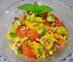 Grilled Corn Tomato and Avocado Summer Salad Recipe