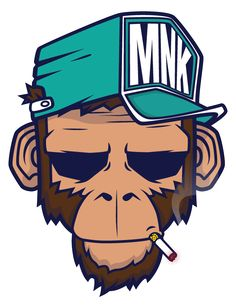 simple illustration by Mnk Crew Mais Graffiti Art, Illustration Singe, Simple Illustration, Sketch Manga, Illustrations Posters, Vector Art, Design Art, Pop Art, Concept Art