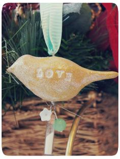 Clay Bird Ornament  by The Shine Project