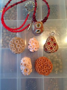 Ceramic beads and necklace