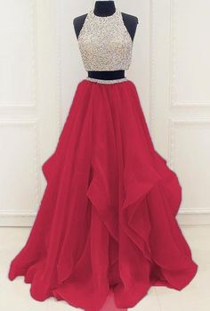 Prom Dresses 2018 Two Pieces Prom Dress, Sweet 16 Dresses, Prom Dresses, Graduation Party Dresses, Ball Gown Prom Dresses Two Piece, Prom Dresses 2018, A Line Prom Dresses, Quinceanera Dresses, Dresses For Teens, Modest Dresses, Dance Dresses, Pretty Dresses, Evening Dresses