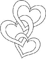Joined hearts coloring page