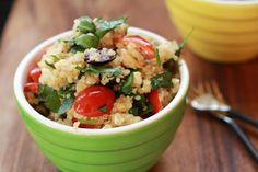 Mediterranean Quinoa Salad, I cooked the quinoa with no salt added chicken broth to add a little more flavor to the that, but this recipe is amazing and a great side dish, or as a light meal.  Tons of protein in the quinoa and antioxidants from the tomato, spinach & olives.