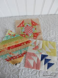After catching up on a few Splendid Sampler blocks the other day I wanted to make a few more.so I made one new release and two I was behind on. I love the way that the blocks are such a mix Lap Quilts, Scrappy Quilts, Mini Quilts, Quilt Blocks, Patchwork Quilting, Quilting Blogs, Quilting Projects, Quilting Designs, Quilting Ideas