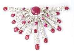 Amoeba brooch, Fulco di Verdura, 1940, diamonds, rubies
