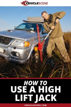 If you want to know how to use a high lift jack correctly safely then this is the guide for you. We take you step by step through proper use. Car Starter, Preventive Maintenance, Car Tools, Car Gadgets, Weird Cars, Good Tutorials, New Trucks, Roof Rack, How To Run Longer