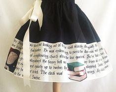 Charles Dickens Christmas skirt, A Christmas Carol, Scrooge, Literature, Book Skirt By Rooby Lane Christmas Skirt, Christmas Carol, Christmas Countdown, Xmas, Cute Fashion, Vintage Fashion, Women's Fashion, Estilo Lolita, School Dresses