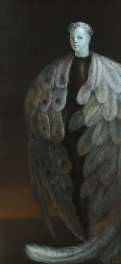 Leonor Fini Leonor Fini (August Buenos Aires, Argentina - January Paris, France) was an Argentine surrea. Long John Silver, Max Ernst, Magritte, Contemporary Artists, Modern Art, Unusual Art, Art Moderne, Sculpture, Figure Painting