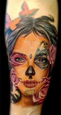 Tattoo Artist - Antonio Proietti - muerte tattoo | www.worldtattoogallery.com