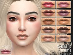 The Sims Resource: Child lipset 8 by Sintiklia • Sims 4 Downloads