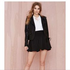 Nasty Gal black scuba skirt Nasty Gal black scuba skirt- very awesome and fun skirt to wear any day! Nasty Gal Skirts