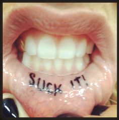 Ke$ha's Lip Tattoo