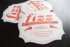Fizz Business Coasters by Fizz , via Behance