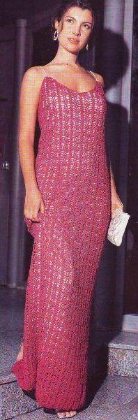 Evening dress crochet № 2,2,5 and 3 of viscose. scheme knitting evening dress crochet