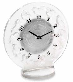 Lalique Rossignols Clock