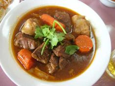 Beef Stew      [we just used this as a reference, but did not use: paprika, flour, shortening-used oil, bay leaf or corn. Used 3 cups water 1 cup beef broth. ]